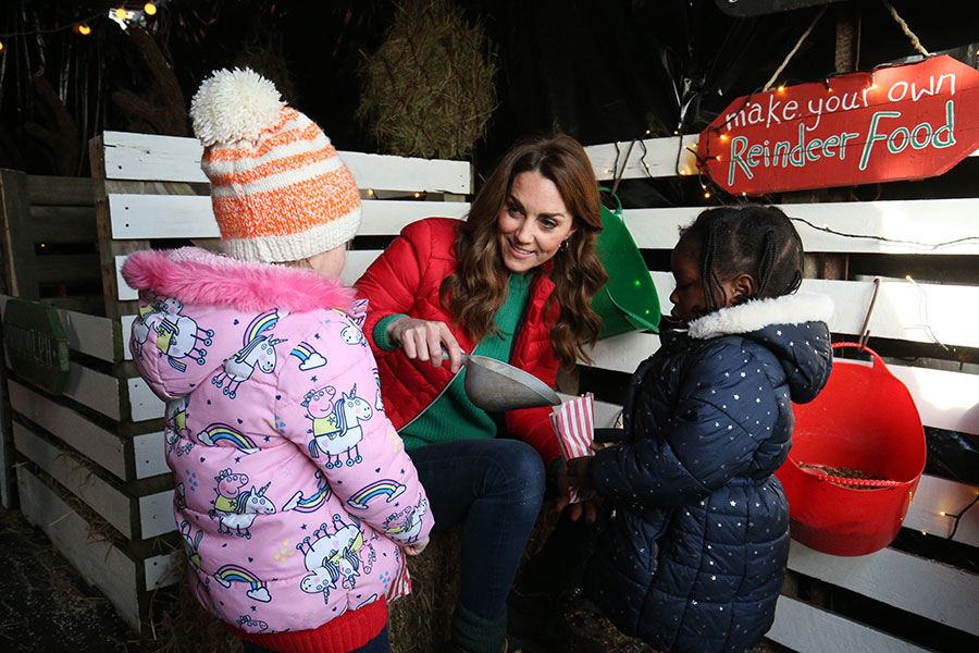 Kate Middleton con look navideño
