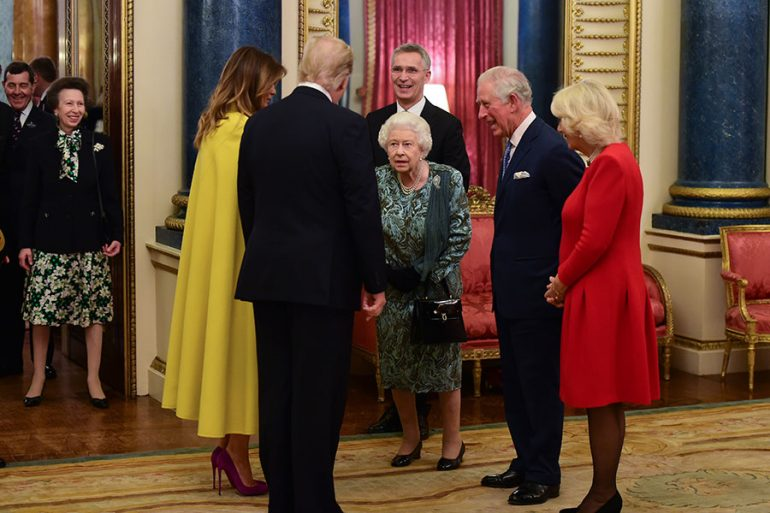 Princesa Ana, reina Isabel, pareja Trump