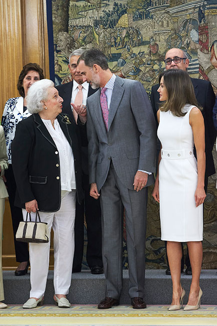 infanta Pilar de Borbón y reyes de España