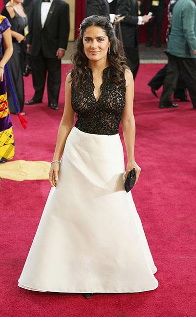 Salma Hayek en el Oscar 2003