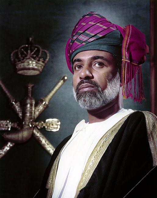 El sultán Qabus de Omán en 1987. (Foto: AFP)