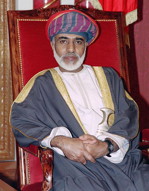 El sultán Qabus de Omán en 1995. (Foto: AFP)