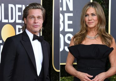Brad Pitt y Jennifer Aniston en los Golden Globes 2020