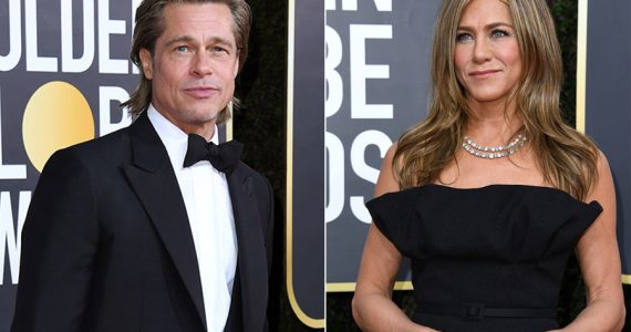 Brad Pitt y Jennifer Aniston en los Golden Globes 2020