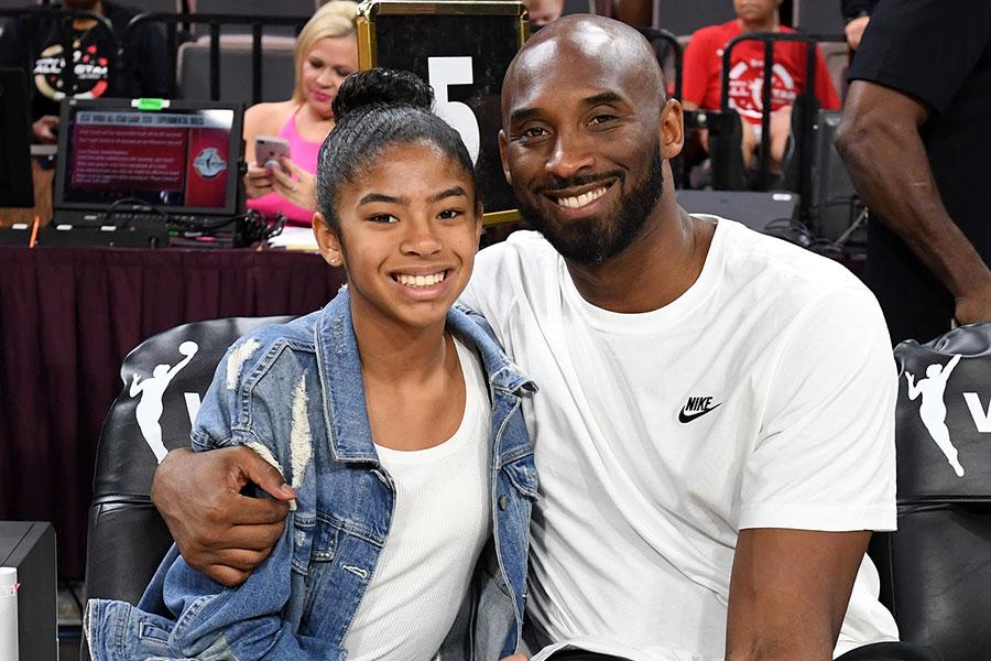 Gianna Maria y Kobe Bryant en julio de 2019