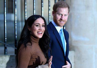 Meghan y Harry en la Casa de Canadá, en Londres