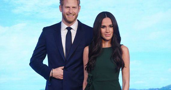 Harry y Meghan de cera