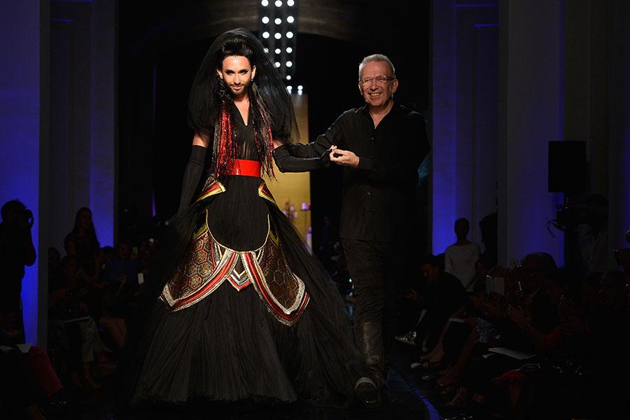 Conchita Wurst y Jean Paul Gaultier