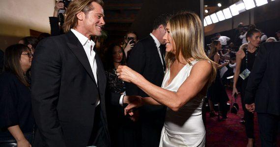 Brad Pitt y Jennifer Aniston en los SAG
