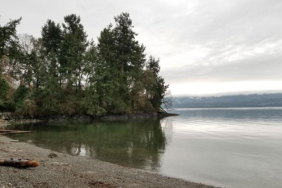 Playa de la zona residencial de los duques de Sussex en Vancouver.