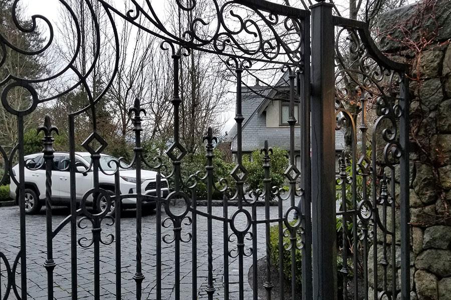Vista de la casa temporal donde se encuentran Harry y Meghan