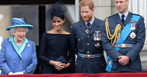 Reina Isabel, Meghan, príncipe Harry, príncipe William
