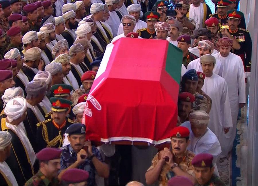 Funeral del sultán Qabus de Omán
