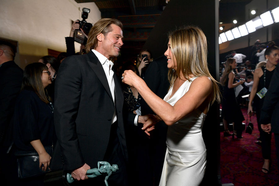 Brad Pitt y Jennifer Aniston en los SAG.