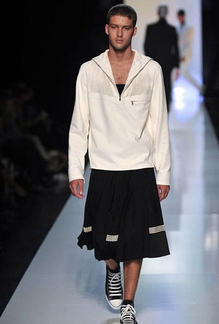 Hombres con falda, de Jean Paul Gaultier