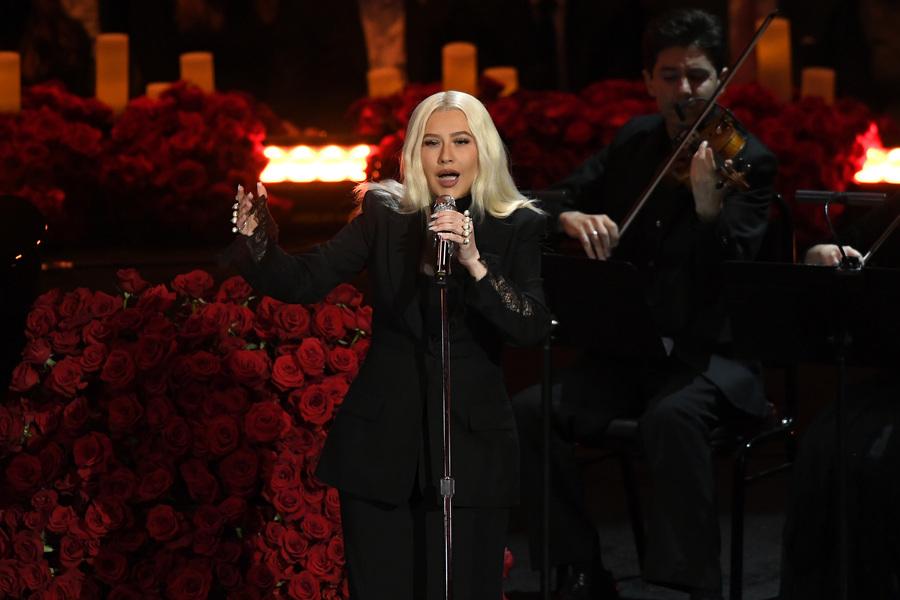 Christina Aguilera memorial Kobe Bryant