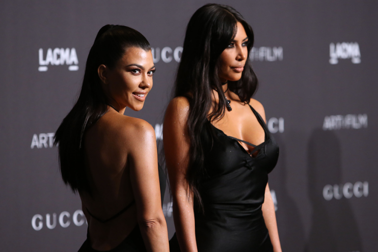 Kim y Kourtney Kardashian