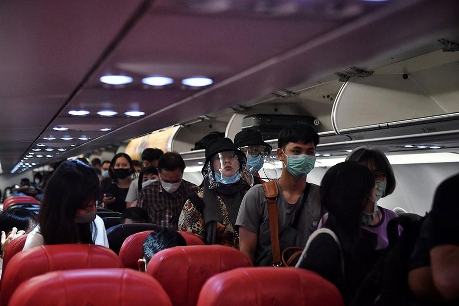 Medidas en avión por coronavirus