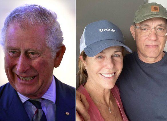Príncipe Carlos, Rita Wilson y Tom Hanks, enfermos de coronavirus