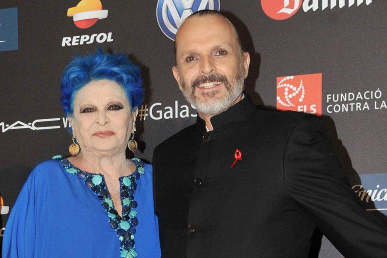 Lucía y Miguel Bosé