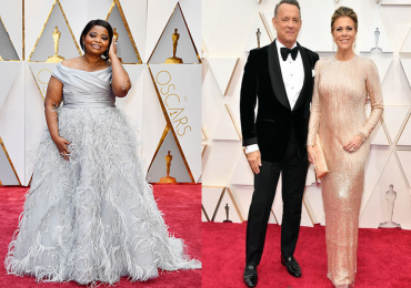 Octavia Spencer, Tom Hanks y Rita Wilson