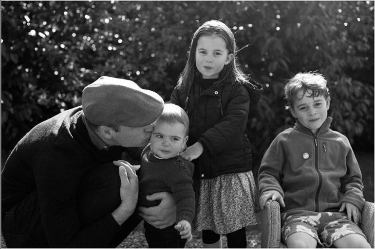 Príncipe William con sus hijos