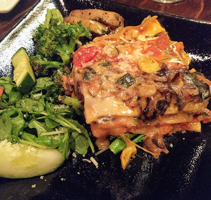 Lasaña vegetariana en Biga on the Banks