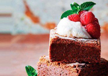 Receta de brownies con almendras