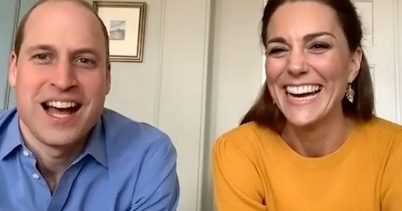 William y Kate en videollamada