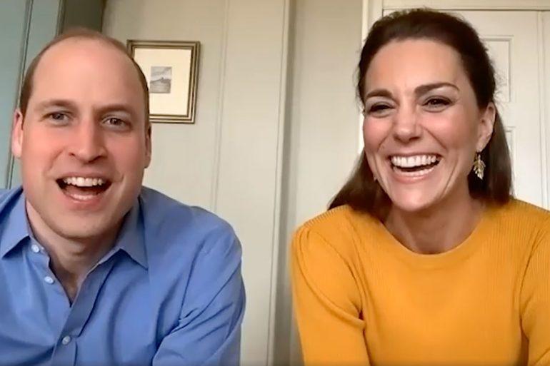 William y Kate en videollamada