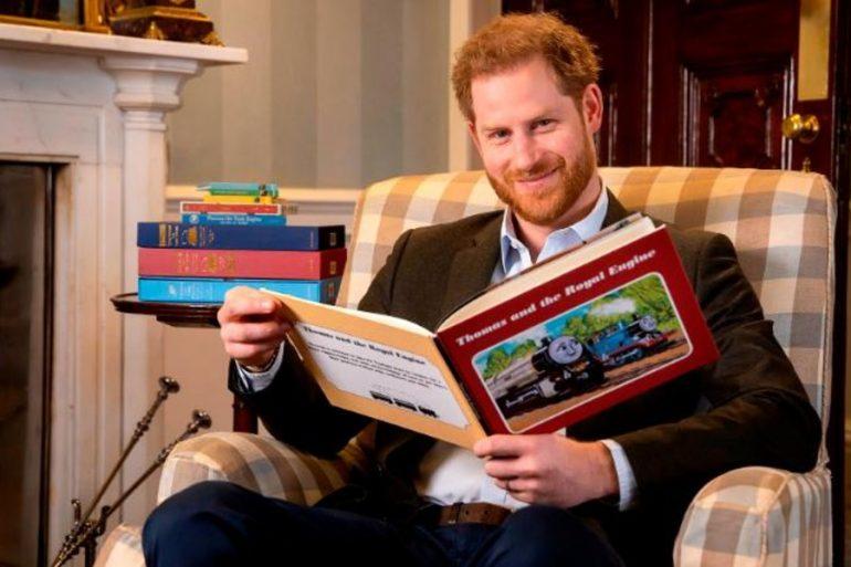 El príncipe Harry grabó un episodio especial de la serie infantil 'Thomas & Friends'
