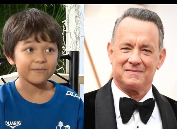 Tom Hanks hace regalo a niño llamado Corona