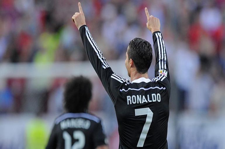Cristiano Ronaldo en un partido de futbol