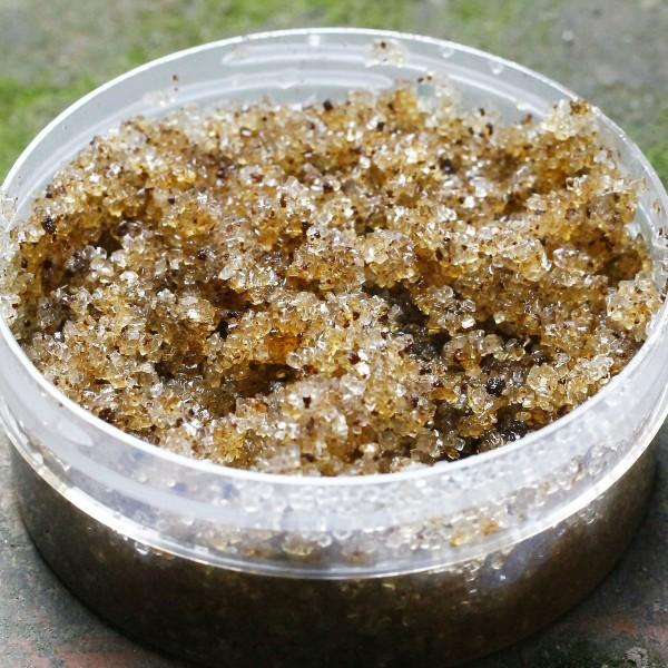 exfoliante casero a base de miel y azúcar