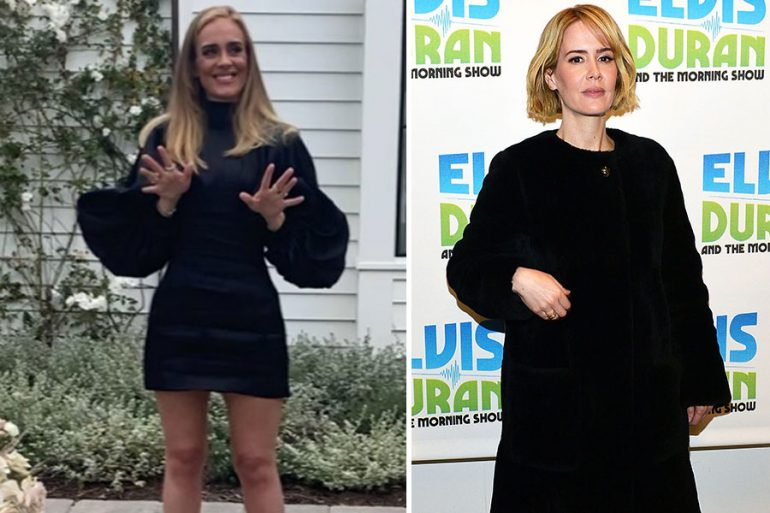 ¿Se parecen Adele y Sarah Paulson?