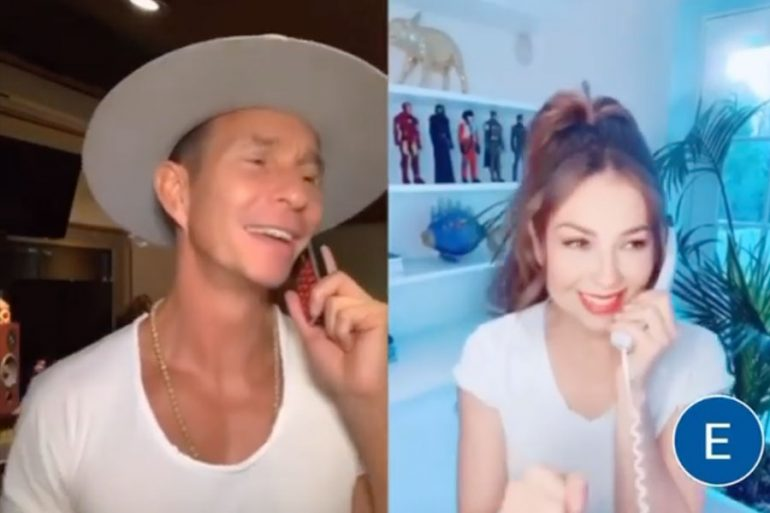 Erik Rubín y Thalía hacen un Tik Tok de Timbiriche