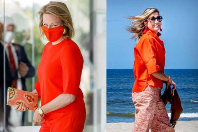 Matilde y Máxima de naranja