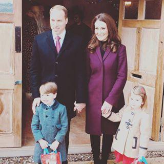 dobles príncipe George y prinesa Charlotte