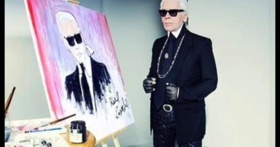 Subastan autorretrato de Karl Lagerfeld por casi 20 mil dólares