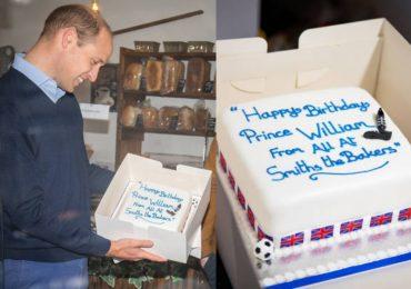 El príncipe William celebro su pre cumpleaños con un inesperado y delicioso regalo