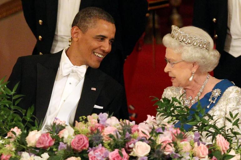 Barack Obama y la reina Isabel