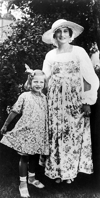Little Edie y Big Edie en 1922.