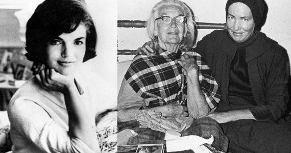 Jackie Kennedy con Big Edie y Little Edie