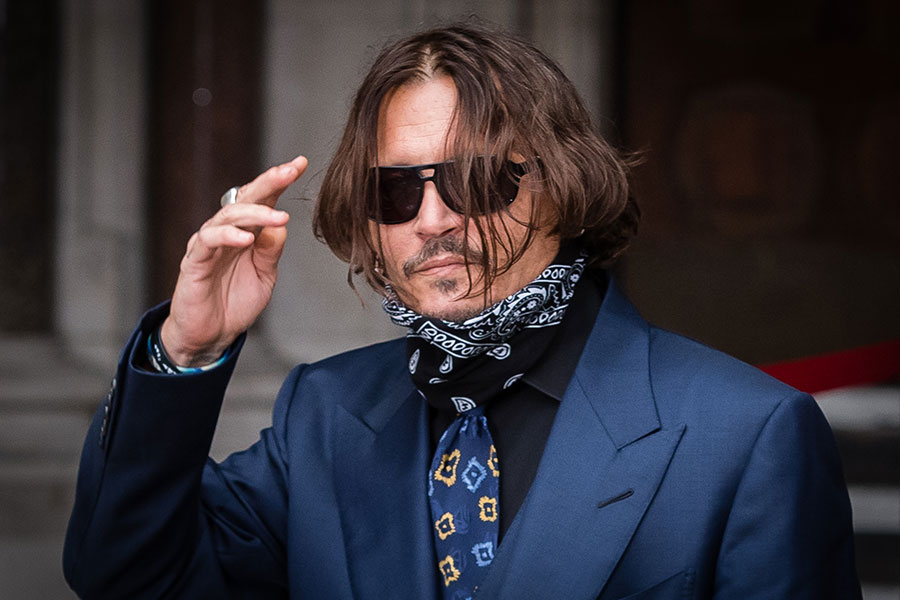 Johnny Depp en su tercer día de juicio contra The Sun