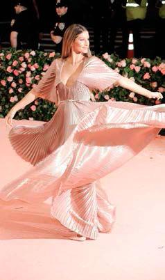 Gisele vestida de Dior en la gala del MET