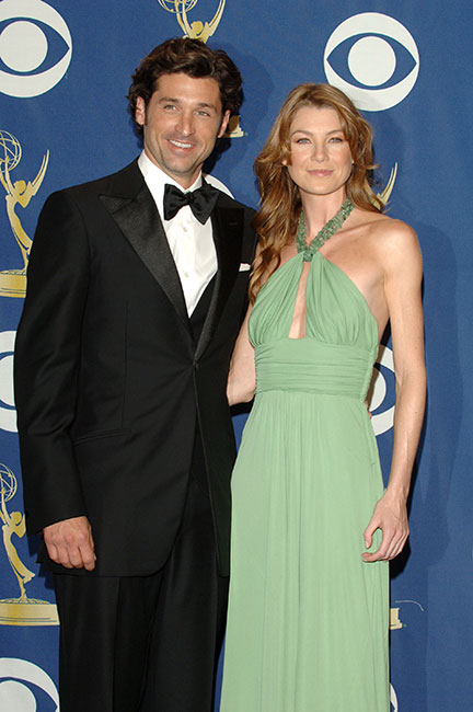 Patrick Dempsey y Ellen Pompeo en 2005