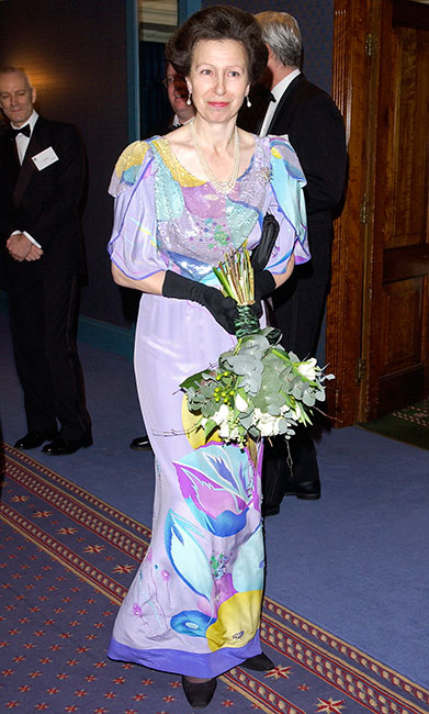 La princesa Ana con un vestido que lució más de una vez.