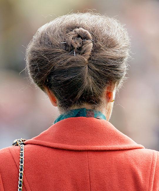 La princesa Ana y su cabello recogido