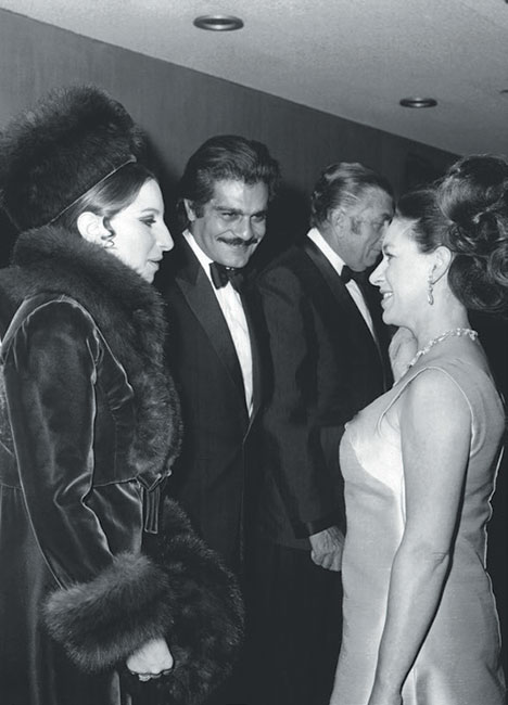 Barbra Streisand y la princesa Margarita