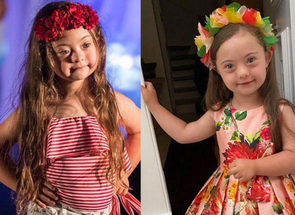 Francesca Rausi, la pequeña con síndrome de Down que enamora las pasarelas